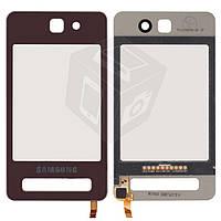 Touchscreen (сенсорный экран) для Samsung F480, оригинальный (розовый)