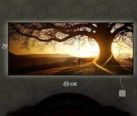Картина с подсветкой Дерево 29x69
