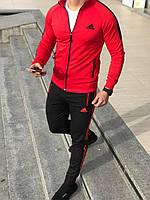 Мужской спортивный костюм Адидас Adidas . Спортивный костюм Адидас. Спортивний костюм Adidas красный