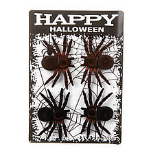 """Декор на Хэллоуин """"Пауки 4 шт."""""""