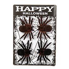 """Декор на Хеллоуїн """"Павуки 4 шт."""""""