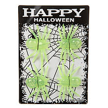 "Декор на Хэллоуин ""Светящиеся пауки"""