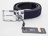 Замшевый двухсторонний ремень Alon синий / черный, фото 4