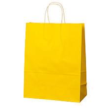 Крафтовый пакет, желтый  26*32*12