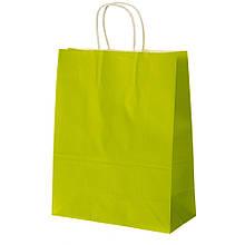 Крафтовый пакет, салатовый  26*32*14