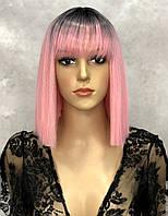 Перука LILY тон Ombre Pink з імітацією шкіри, фото 1