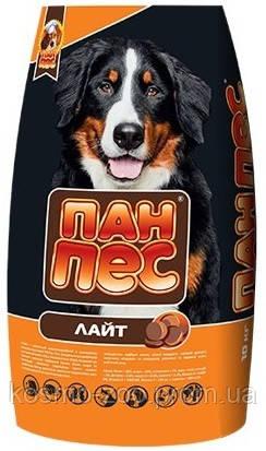 Корм для собак Пан пёс лайт 10 кг