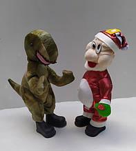 Танцююча музична м'яка іграшка Динозавр, Дід Мороз
