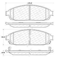 Колодки тормозные, передние керамические (AUTOEXTRA AXCD1080)