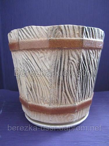Горшок керамический боченок