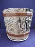 Горшок керамический боченок, фото 1