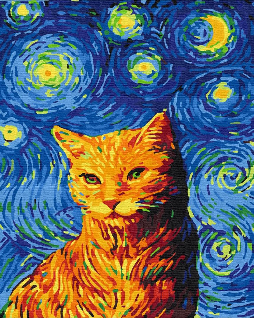 Кіт у зоряну ніч