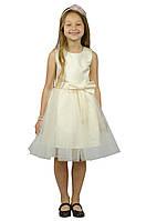 Нарядное платье 15-250 (молочное, р.98-134)