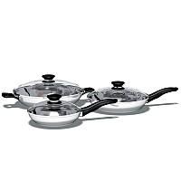 ICook™ Набор из трех сковородок с крышками
