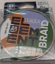 Шнур Zeox Element Leader Braid 25м Silt 0.40мм