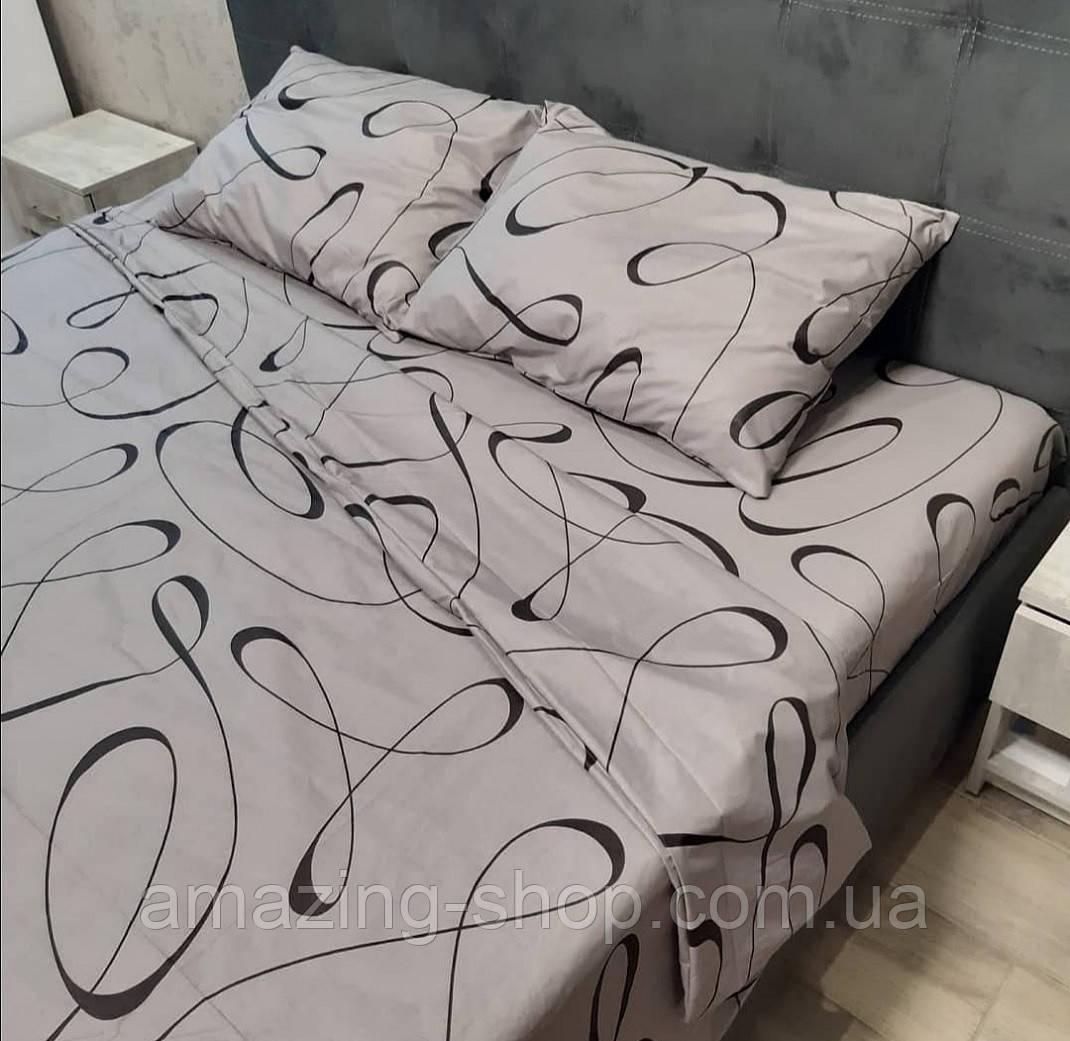 Двуспальное постельное белье Бязь Gold Размер 180х215 Качественное постельное белье