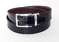 Двухсторонний кожаный ремень Alon лаковый, фото 1