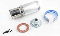 Глушитель (тюнинг)   170*100mm, креп. Ø78mm   (нержавейка, короткий, хром, прямоток, mod:3)