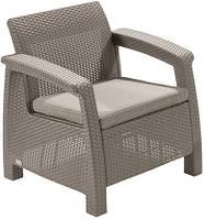 Садовое пластиковое кресло Keter CORFU CHAIR 242911 капучино