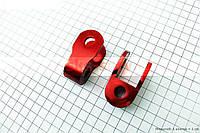 Удлинитель заднего амортизатора 25мм к-кт 2шт, красный