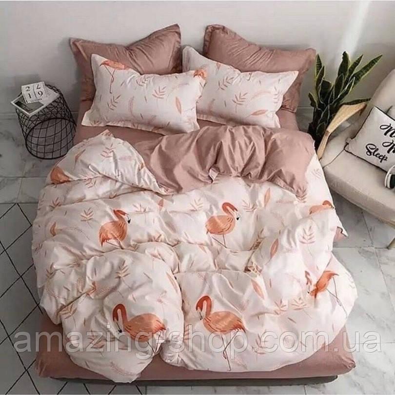Готовый комплект постельного белья Бязь Gold Размер двуспальный 180х215 Качественное постельное белье