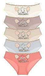 """Трусики для дівчаток Donella вік 10/11, ріст 146-152 """"Радісна миша"""""""