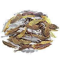 Набор из 100 металлических подвесок шармов шармиков, крылья