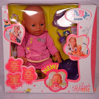 Кукла пупс Baby Born 8001 трикотажная одежда, 8 функций