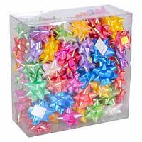 Набор из 100 праздничных бантов для украшения подарков 5см, перламутровые