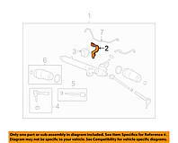 Сайлентблок крепления рулевой рейки, с кронштейном (GM 25861412)