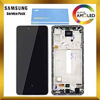 Дисплей Samsung A525 Galaxy A52 с сенсором Фиолетовый Violet оригинал, GH82-25524C
