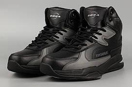 Ботинки мужские черные Bona 852C-6 Бона Размеры 41 42 43 44 45 46