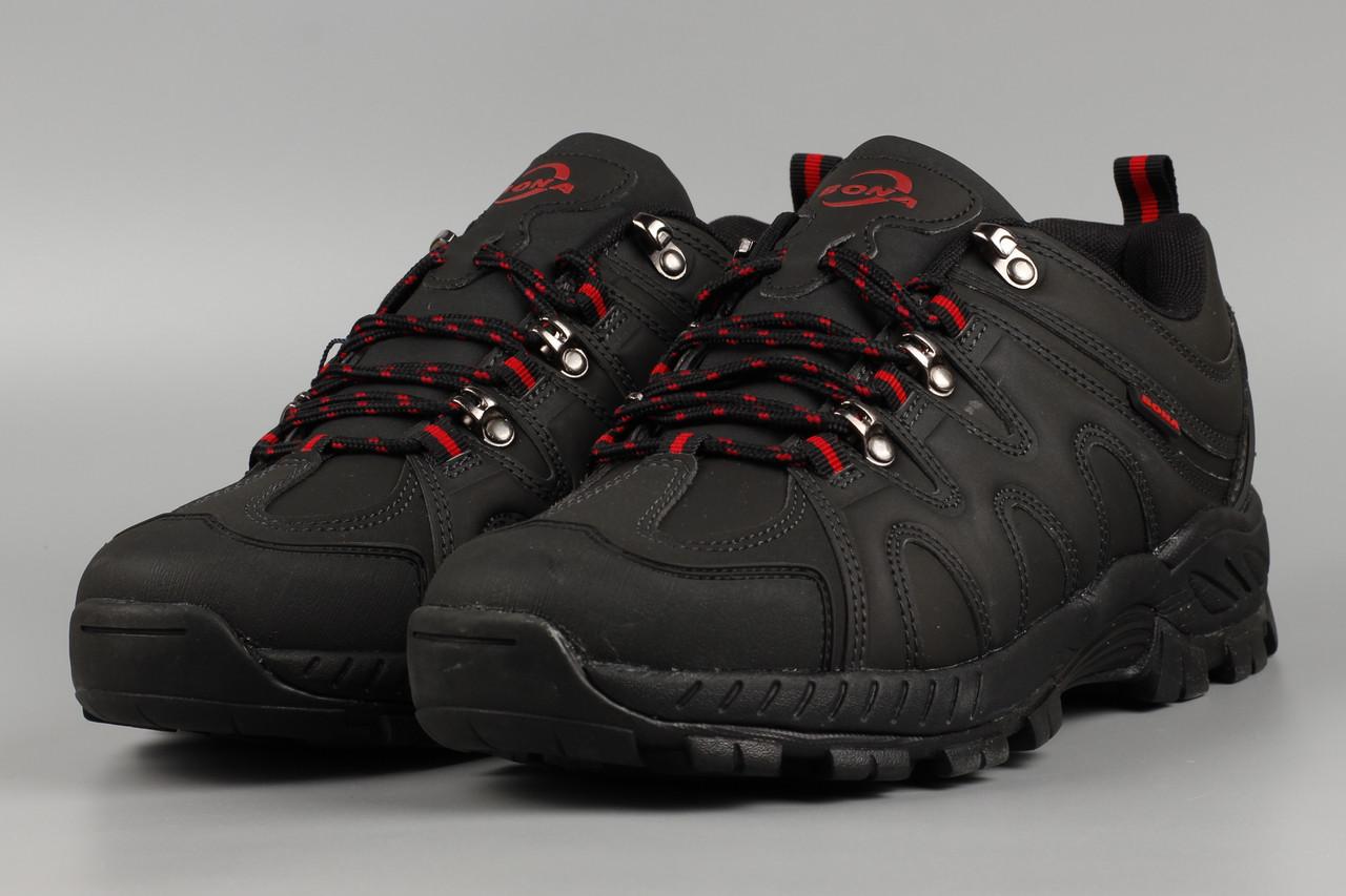 Кросівки зимові чоловічі чорні Bona 851G-6 Бона утеплені з хутром Розміри 41 42 43 44 46