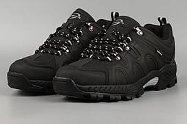 Кроссовки зимние мужские черные Bona 851D-6 Бона утеплённые с мехом Размеры 41 42 43 45 46
