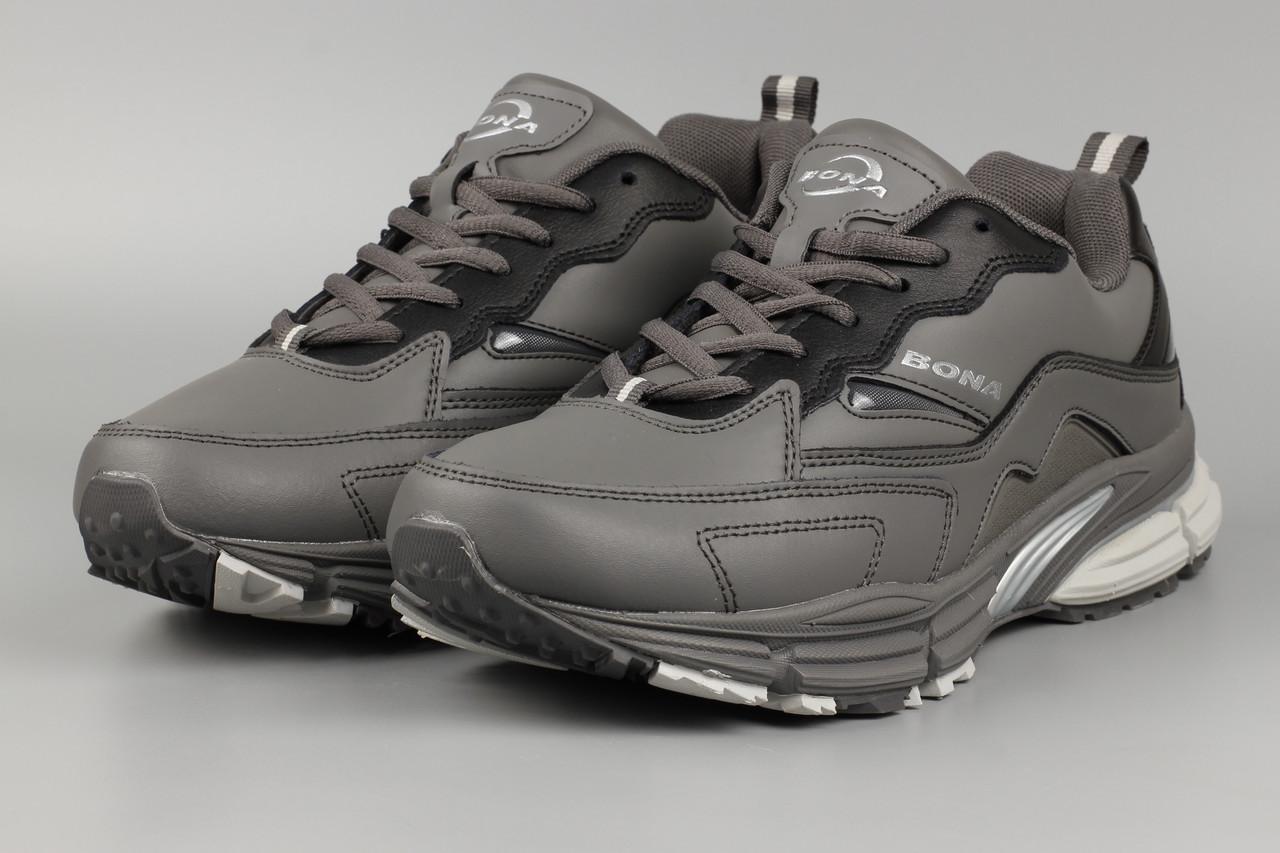 Кросівки чоловічі сірі Bona 860F Бона Розміри 41 42 43 45 46