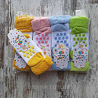 Шкарпетки дитячі махрові ЛАПКИ для дітей від 0-3 роки (12шт.уп.),кольори міксом