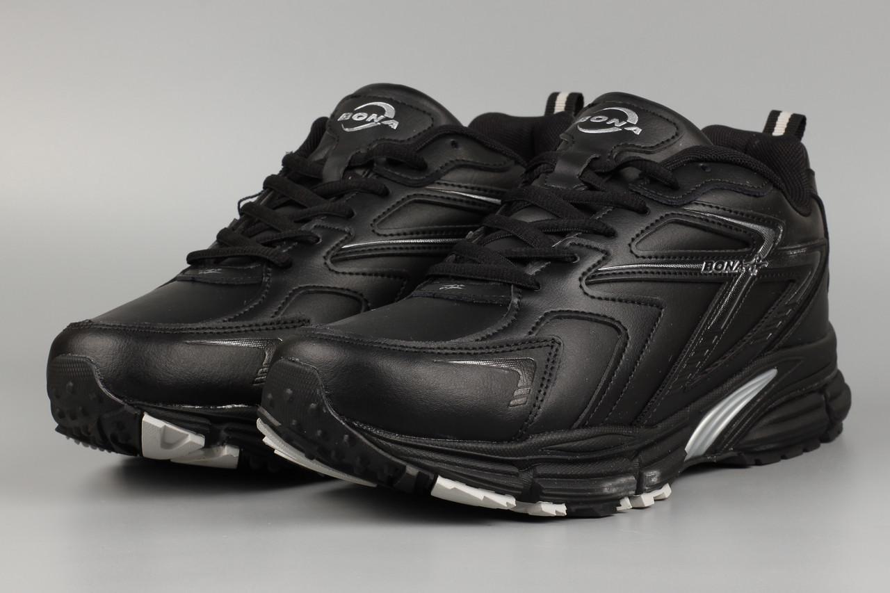 Кросівки чоловічі чорні Bona 840C Бона Розміри 41 42 43 44 45