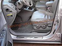Накладки на пороги  для Hyundai Tucson 2004-09