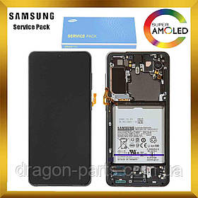 Дисплей Samsung G991 Galaxy S21 с сенсором Серый Phantom Gray оригинал, GH82-24718A