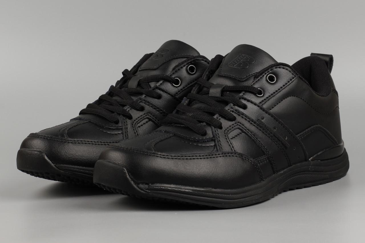 Кроссовки мужские черные Bona 824С Бона Размеры 41 42 43 45 46