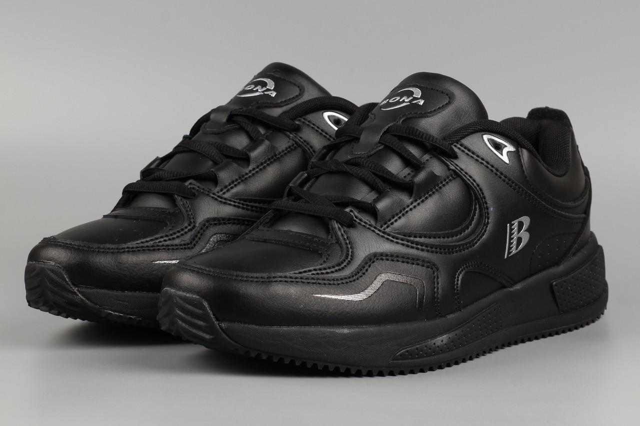 Кросівки чоловічі чорні Bona 820С Бона Розміри 41 42 43 44 45 46