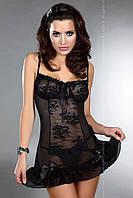 Купить черную кружевную сорочку Alkestis LC