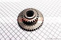 Шестерня задней передачи Z=24x44 на мотоблок с двигателем 168F и его аналоги