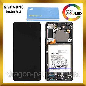 Дисплей Samsung G996 Galaxy S21 Plus сенсором Серый Phantom Silver оригинал, GH82-24744C