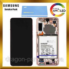 Дисплей Samsung G996 Galaxy S21 Plus сенсором Фиолетовый Phantom Violet оригинал, GH82-24744B