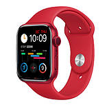 Смарт годинник Фітнес браслет трэккер Apl Watch Series 6 M16 PLUS пульсометром тонометром погода червоні + Подарунок, фото 4