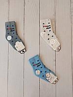 Шкарпетки дитячі махрові ЗІРКИ для хлопчиків рр 0-3 (12шт.уп.),колір мікс