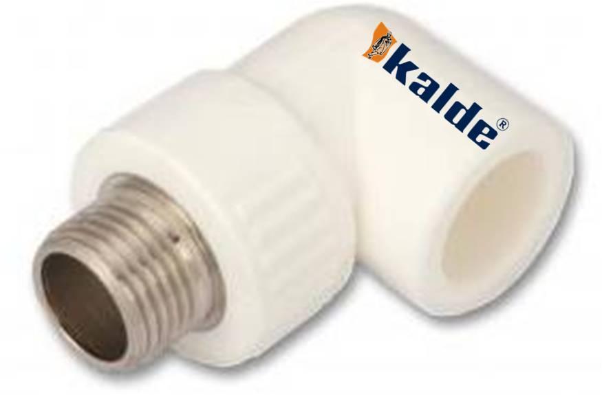 Кут Kalde з зовнішньою різьбою 20*3/4 Kalde WHITE ппр