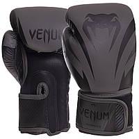 Перчатки боксерские кожаные VENUM IMPACT VN03284-114 10-16 унций черный
