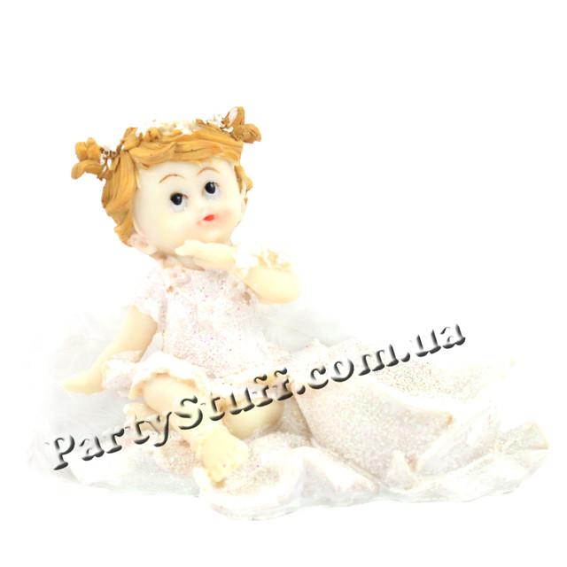 подарочная статуэтка ангелочек с цветком